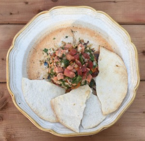 Ceviche de truite et tortilla grillé